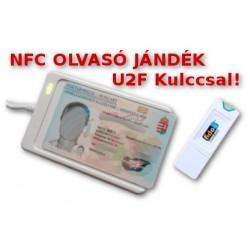 ACR122U-A9 NFC USB intelligens kártyaolvasó + Ajándék U2F kulcs (K2)